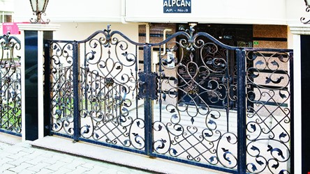 Ornamental Wrought Iron Gate Application - 8
