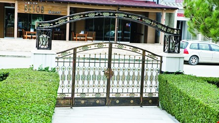 Ornamental Wrought Iron Gate Application - 12