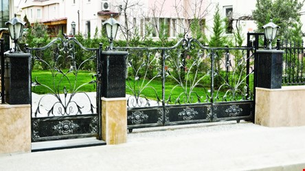 Ornamental Wrought Iron Gate Application - 17