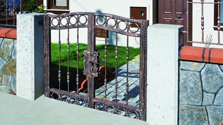 Ornamental Wrought Iron Gate Application - 23