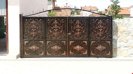 Ornamental Wrought Iron Gate Application - 66
