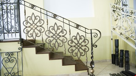 Ornamental Wrought Iron Staircase Application - 1