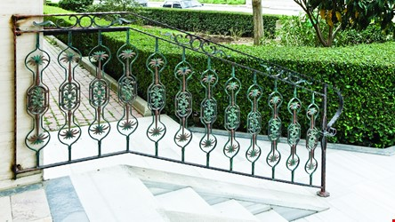 Ornamental Wrought Iron Staircase Application - 4