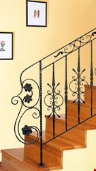 Ornamental Wrought Iron Staircase Application - 14