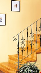 Ornamental Wrought Iron Staircase Application - 20