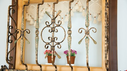 Ornamental Wrought Iron Window Application - 10